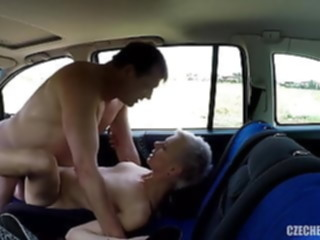 amateur Older Hooker fucked in a car.. public nudity