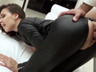 bdsm Under a zipper blowjob