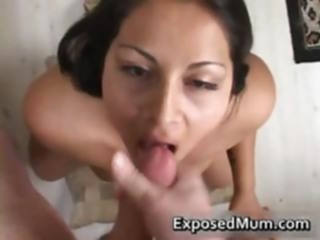 amateur Latina mom tit fucks and.. anal